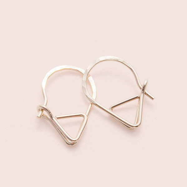 One Yellow Gold Fill Sleeper Earring
