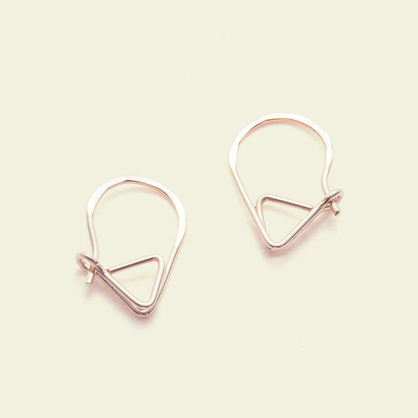 Sleeper Earrings (14k rose gold and rose gold fill)