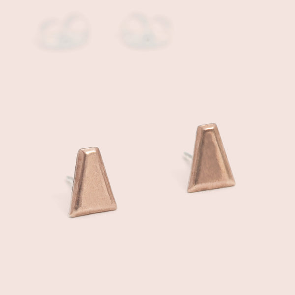 Tapered Baguette Studs (pink bronze)