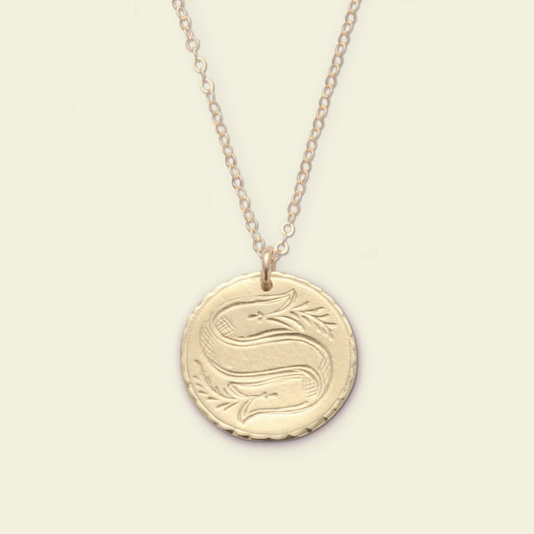 Customizable Love Token Necklace (brass)