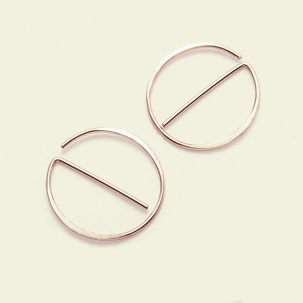 "Universal ""NO"" Earrings (14k rose gold)"