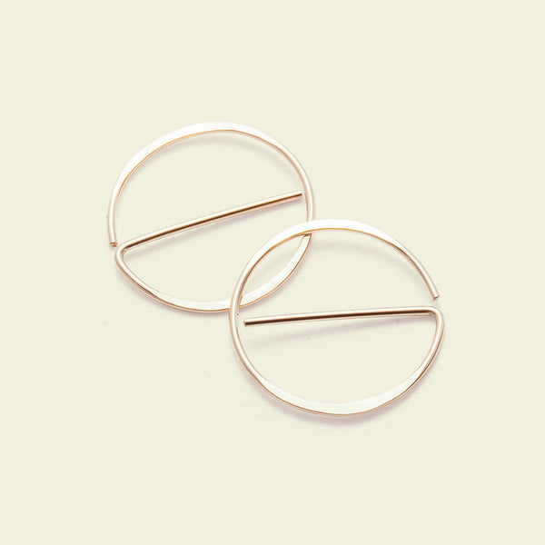 "Universal ""NO"" Earrings (14k yellow gold)"