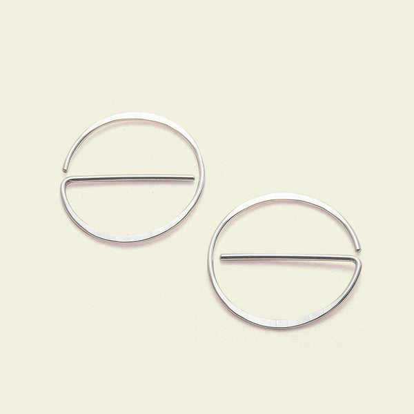 "Universal ""NO"" Earrings (silver)"
