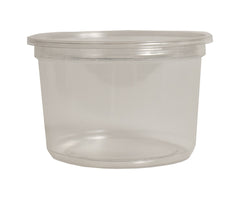 16oz Clear Deli Cup with Lid (Singles)