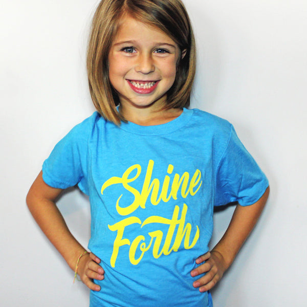 Shine Forth shirt, youth triblend