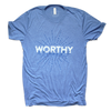 blue worthy is the lamb shirt
