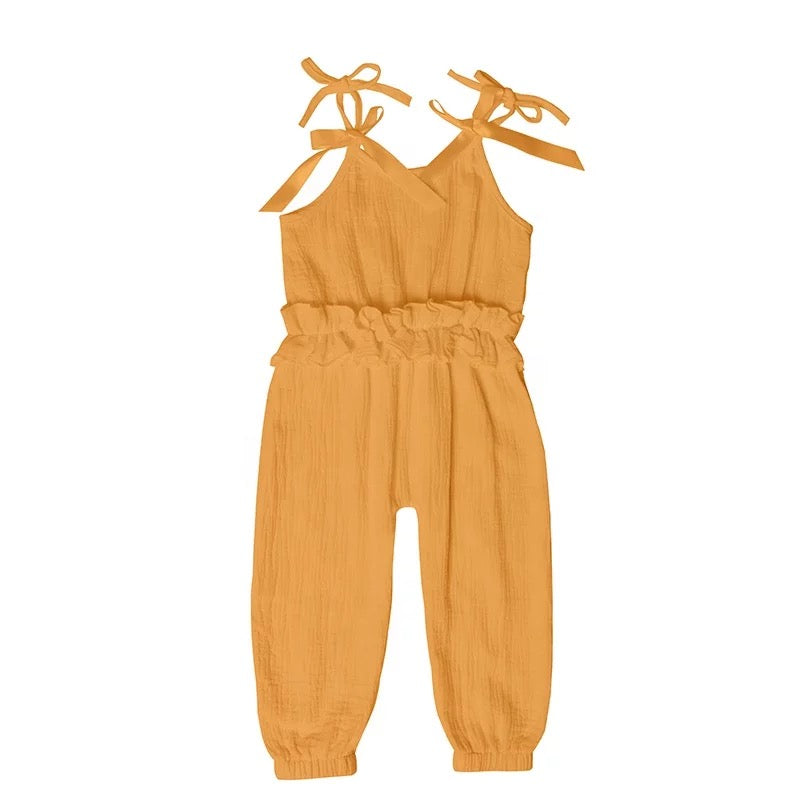 Ruffled Jumpsuit - Mustard