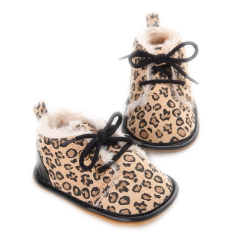 Winter Boot - Leopard - little-love-bug-clothing