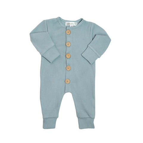 Ribbed Essential Onsie - Dusty Blue