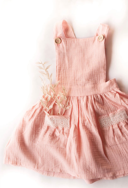 Pinafore Dress - Pink