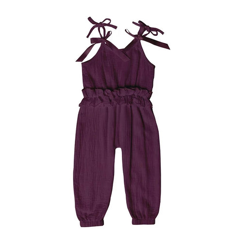 Ruffled Jumpsuit - Purple