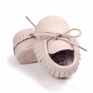 Frilled Mocs - Light Pink - little-love-bug-clothing
