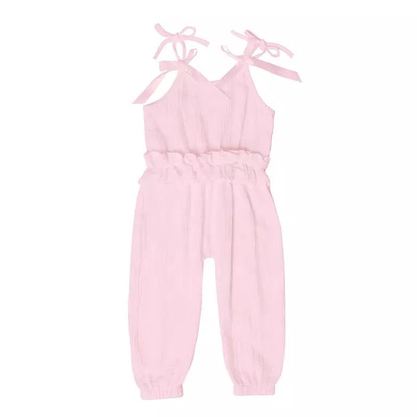 Ruffled Jumpsuit - Pink