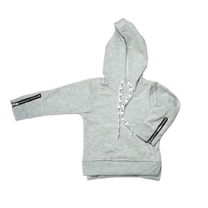 Zipped Hooded Jumper - Grey
