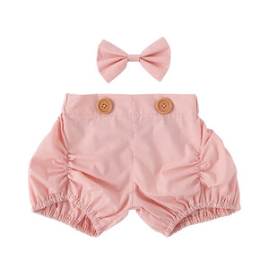 Shorts + Bow set - Pink