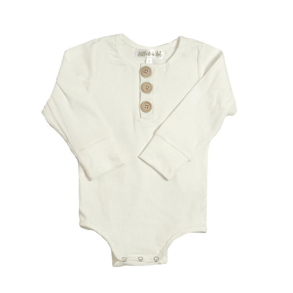 Ribbed Essential Romper - White