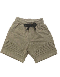 Ribbed Shorts - Grey