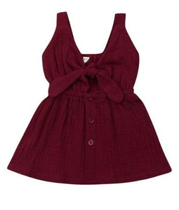 Knot Dress - Burgundy