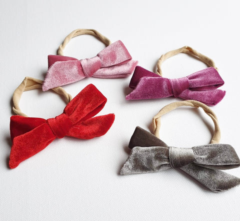 VELVET BOW HEADBANDS - little-love-bug-clothing