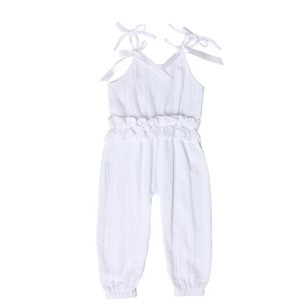 Ruffled Jumpsuit - White