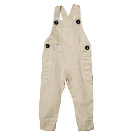 Cuffed Overalls - Light Stone