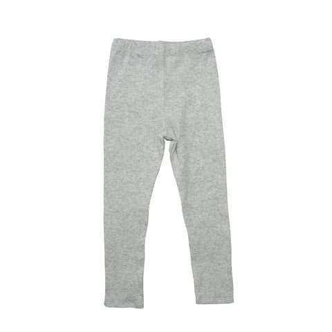 Ribbed Essential Leggings - Grey Marle