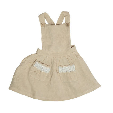 Pinafore Dress - Beige