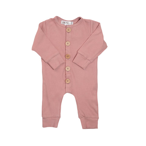 Ribbed Essential Onsie - Dusty Pink