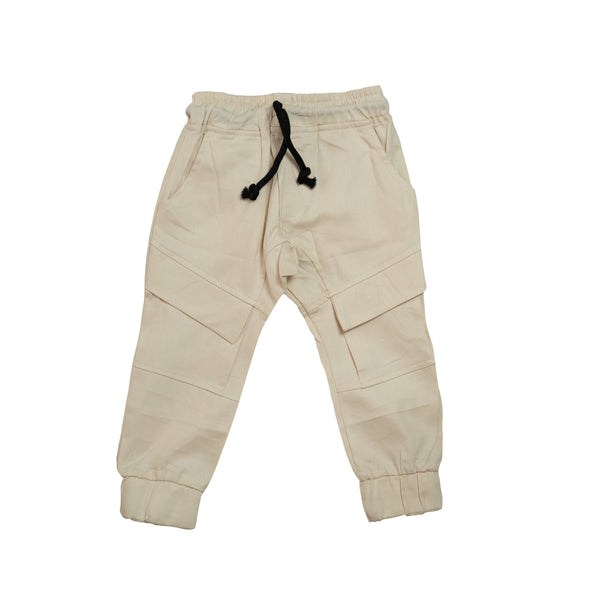 Cuffed Chino Pants - Light Stone
