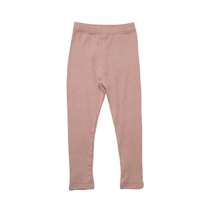 Ribbed Essential Leggings - Dusty Pink