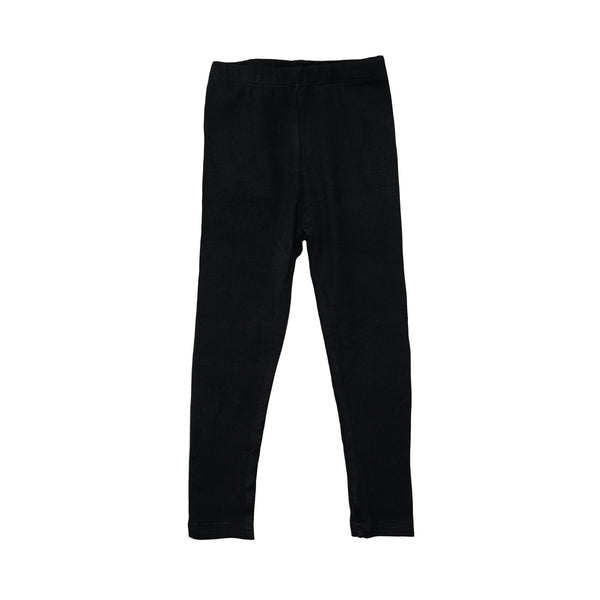 Ribbed Essential Leggings - Black
