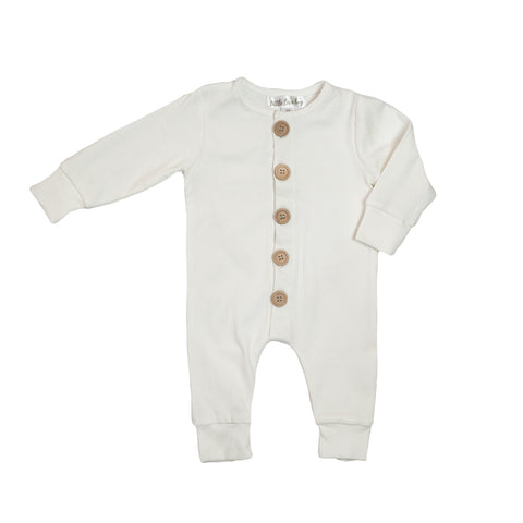 Ribbed Essential Onsie - White