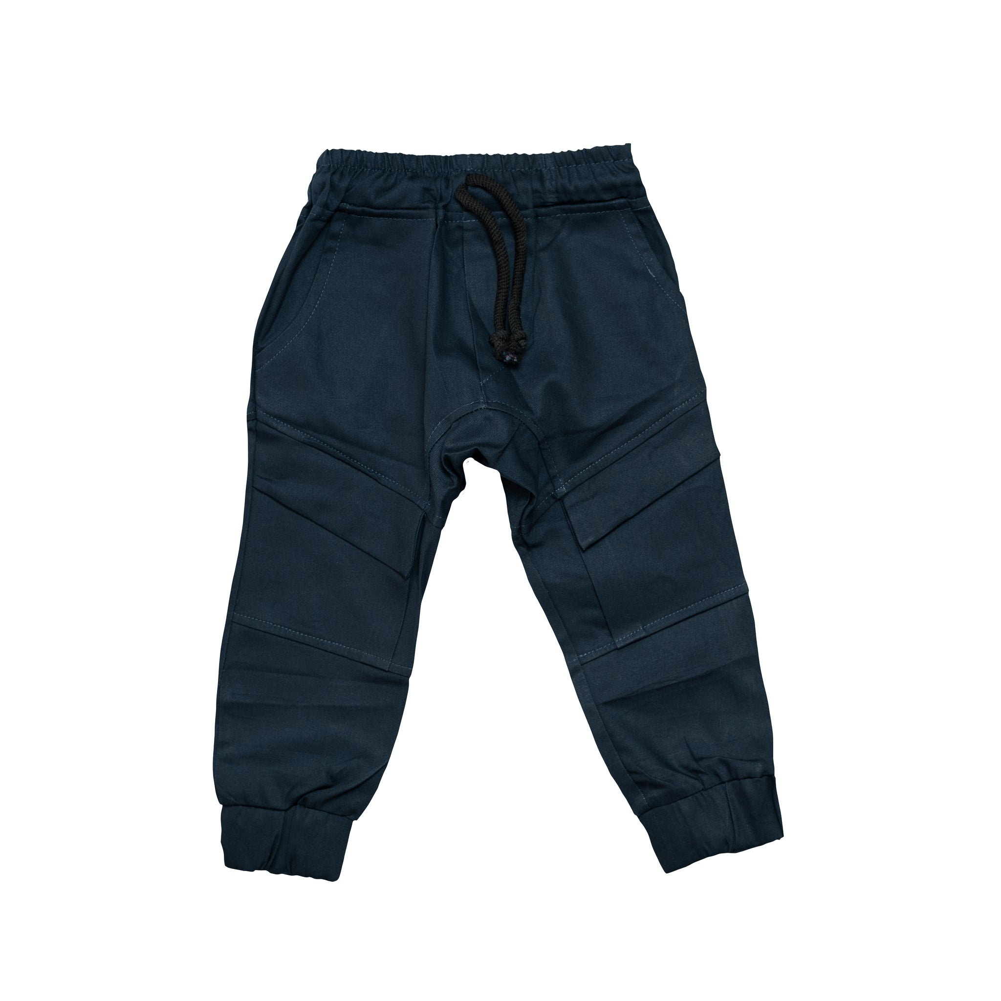 Cuffed Chino Pants - Navy