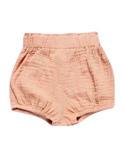 Highrise Shorts - Peach Pink - little-love-bug-clothing