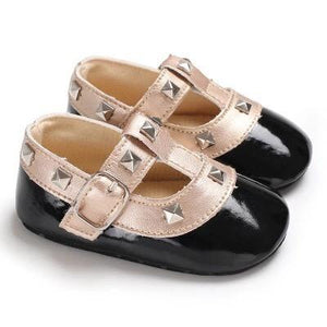 Studded Flats - Black - little-love-bug-clothing