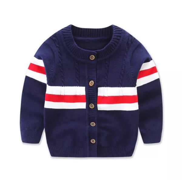 French Cardigan - Navy - little-love-bug-clothing