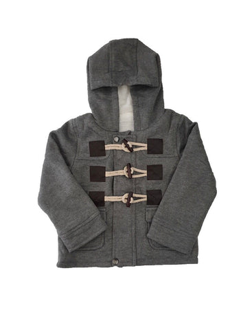 Duffel Coat - Grey - little-love-bug-clothing
