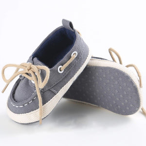 Boat Shoe - Grey - little-love-bug-clothing