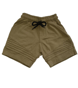 Ribbed Shorts - Khaki