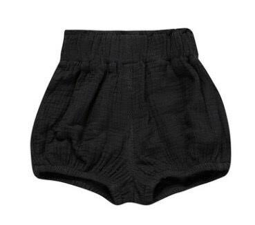 Highrise Shorts - Black - little-love-bug-clothing