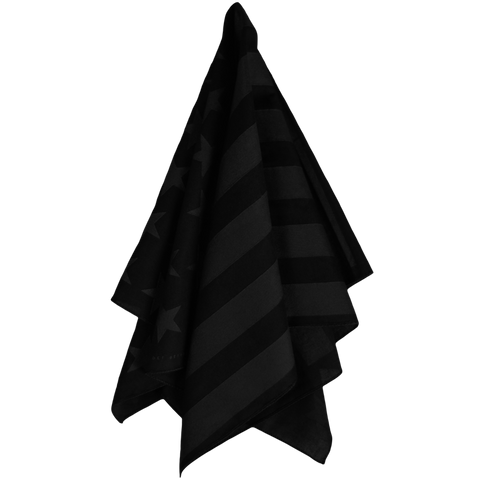 American Flag Bandana (Black on Black)