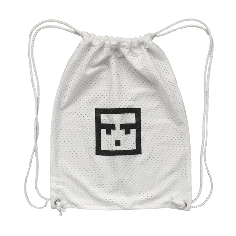 Mesh Face Backpack (White)