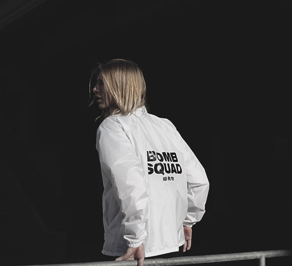Bomb Squad Coaches Jacket (White)