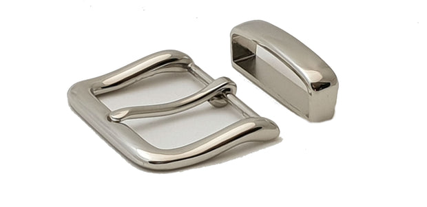 Nickel Square Buckle - 1956 - MAC1956 - thebeltshed.com.au