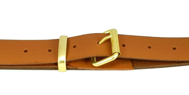 32mm - Roller buckle and keeper - Matt Brass - 2502