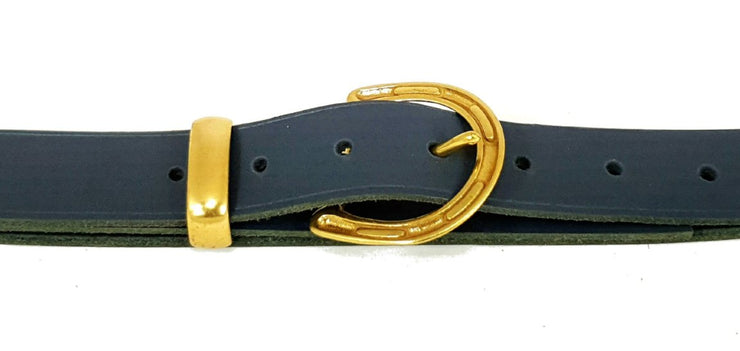 32mm - Horseshoe buckle and keeper - Solid Brass - 3291