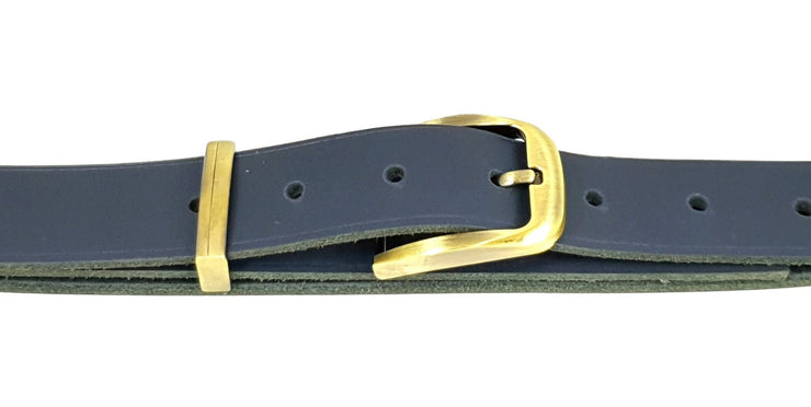 32mm - Rectangle buckle and keeper - Brass - 3895