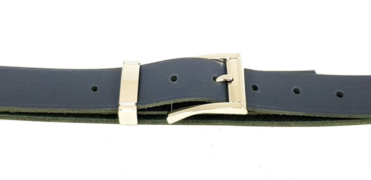 32mm - Square buckle and keeper - Nickel - 3897