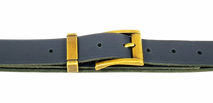 32mm - Square buckle and keeper -Antique Brass - 3900