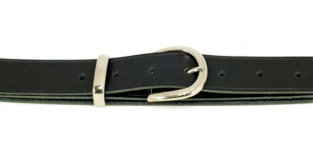 32mm -'D' buckle with keeper - Nickel  - 484